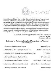 Selected Prayers from Gateway to Oneness: The 72 Hours of Easter